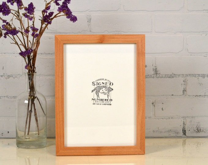 """A4 Size Picture Frame in 1x1 Flat Style with Natural Alder Finish - IN STOCK Same Day Shipping - Handmade Frame 210 x 297 mm 8.3 x 11.7"""""""