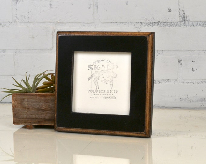 5x5 Square Photo Frame in 2-Tone Style with Vintage Black Finish - IN STOCK - Same Day Shipping - 5 x 5 Sale Frames Solid Hardwood