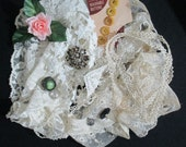 Vintage Lace and Trims Shabby Chic Inspiration Kit Buttons