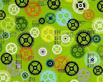 I BOT Robots Gears and Wheels Mechanical Robot Lego Inspired Fabric Retro Robotics RR