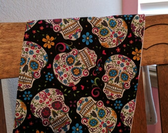 Sugar Skull Burp Cloth
