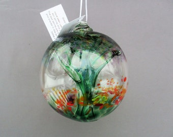 Hand Blown Glass Witch Ball/Ornament/Suncatcher,Art Glass