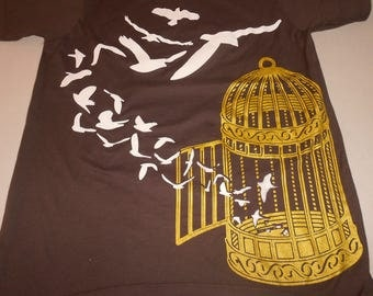 T-Shirt - Those Who Know (Gold/White on Brown)