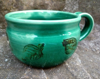 Pottery Soup Mug, Pottery Soup Bowl, Handled Soup Mug, Soup Mug, Soup Crock, Oversized Mug, Ready To Ship