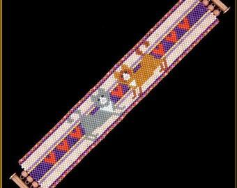 Kitty Cat Love   even-count Peyote Bracelet Pattern by Kristy Zgoda