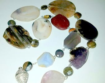 Large Agate Slab Necklace
