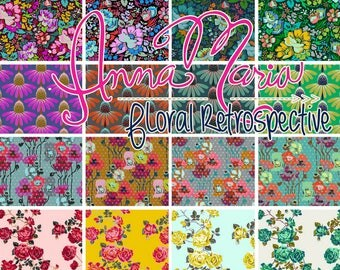 Floral Retrospective - Fat Quarter Bundle by Anna Marie Horner - Full Collection - 16 prints