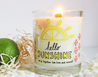 SUNSHINE Hand Poured Soy Wax Candle