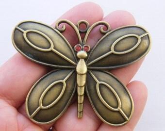 1  Butterfly pendant antique bronze tone BC162