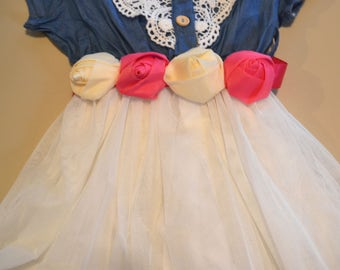 Toddler Sash belt, chiffon flower sash belt, wedding belt, Hot pink and Ivory belt, Flower girl belt