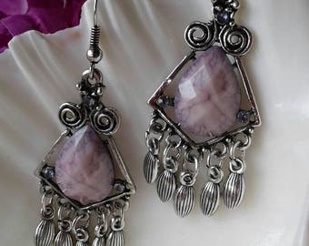 Purple Lavender Earrings