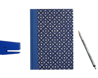Large Address Book 50s pattern, blue, A5 Telephone Book