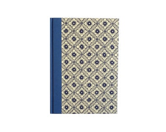 Large Address Book Java Flower blue , A5 Telephone Book, Lotus Flower