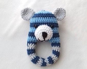 Baby Rattle, Baby toy, teething toy, baby shower gift, baby gift, crochet rattle, teething rattle, baby teether, teething, baby stuff