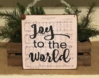 Joy to The World,Christmas Sign,Christmas Decor,Primitive Christmas Decor,Primitive Sign,Rustic Sign