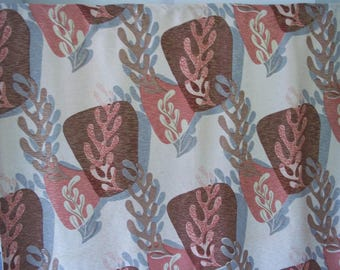 20% off sale! Vintage mid century modern biomorphic abstract fabric panel Cohama Neptune huge drapery curtain vat print