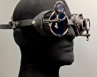 Machined Aluminum Inspector Goggles - Black