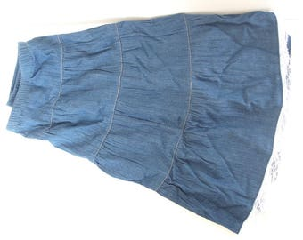 Tiered Denim DIY Skirt Yardage with Elastic, 31 x 44 inches