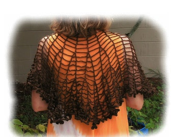 Chains Shawlette Crochet Pattern in PDF