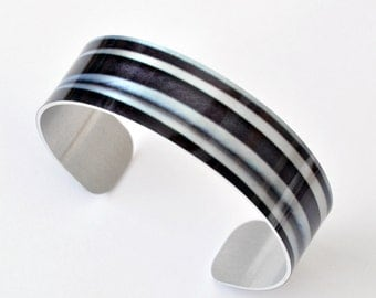 Fade - Aluminum THIN Cuff Bracelet - Photography - Handmade - Unique Gift - Stackable - Band Bracelet - Wearable Art!