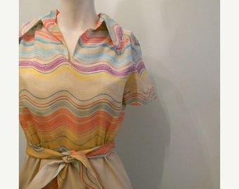 SALE vintage. 60s MOD Dress // Fred Rothschild of California // S