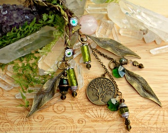 Beaded Silk Charmed Bookmark - Tree of Life