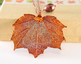 Small Maple Leaf Necklace with 16 inch Chain