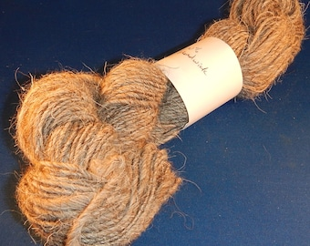 2.5 ounces Handspun Herdwick Wool Worsted weight  Art Yarn - Singles