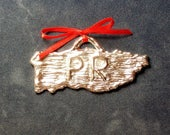 Puerto Rico Pewter Ornament