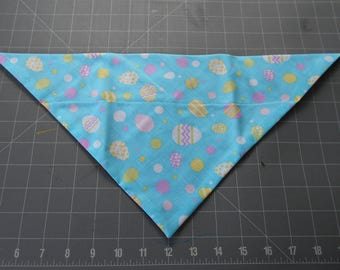 Easter Dog Bandana, Neckerchief, Eggs, Aqua, Scarf, March, April
