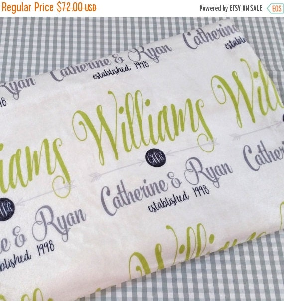 Wedding Gift Sale: BLANKET SALE Personalized Wedding Gift By Monogrammarketplace