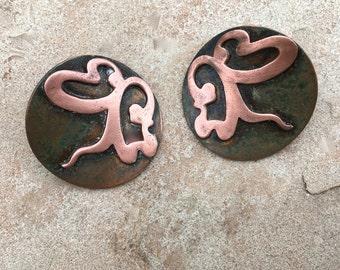 Vintage Studio Copper Earrings Copper Clips