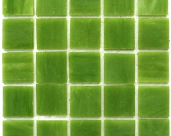 "20mm (3/4"") Lime Kiwi Green Tiffany STAINED GLASS Mosaic Tiles//Mosaic Supplies//Mosaic Pieces//Crafts"