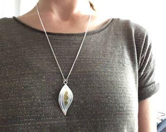 Elegant Handmade Sterling Silver Leaf Pendant