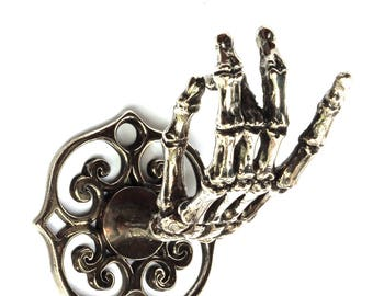 Skeleton Hand Wall Hook Coat Rack Curtain  Rod Holder Jewelry Rack Made in NYC