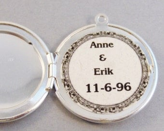 Add On,Add a note to the inside of the locket,Name,Date,Customized Locket,Personalized Necklace,,Love Note,Love Locket,Initials,Add a note,
