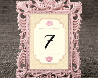 Table Numbers - Vintage Tea Party Theme / Wedding / Bridal Shower / Baby Shower / Birthday Party
