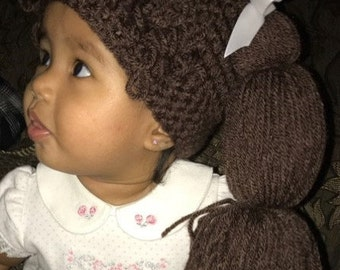 Cabbage Patch Kids Inspired Hat / Wig - Available in 7 sizes, Baby Girl Halloween Costume, Baby Girl Cabbage Patch Hat, Halloween Costume
