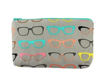 The Nerdy Glasses Wallet / Bag / Small Makeup Bag