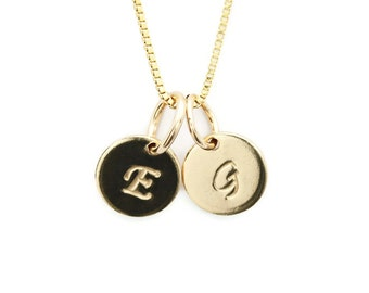 initial necklace initial charm gold charm gold initials letter necklace monogram necklace personalized jewelry gold initial pendant