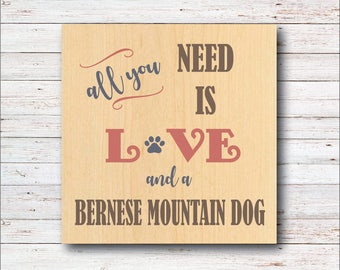 Dog Wall Decor, Bernese Mountain Dog, Dog Breeds, Wood Signs, Rustic, Dog, All You Need Is Love, Dog Home Decor, Home Decor, Living Room