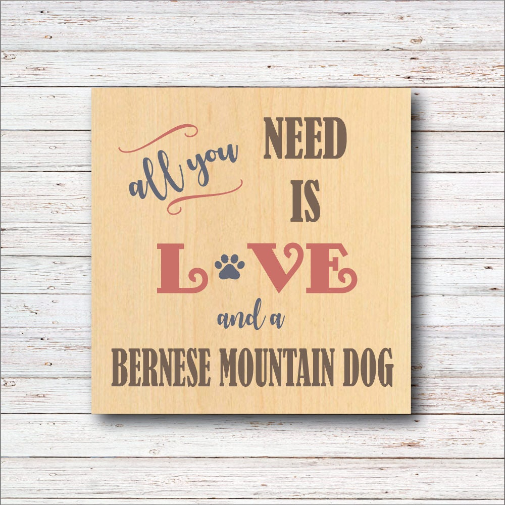Dog Wall Decor, Bernese Mountain Dog, Dog Breeds, Wood Signs, Rustic ...