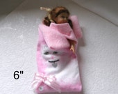 "6"" MINI SLEEPING BAG Cats 2.5 to 6 in dolls"