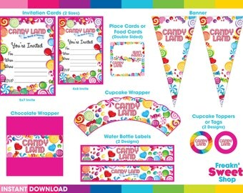 Candy Land Ultimate Party Pack PDF files