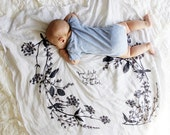 Garland - Organic Cotton Luxe Swaddle Blanket Tapestry printed with Natural Logwood Plant Dye