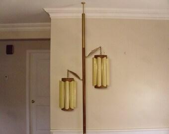 ON SALE  Vintage  1950's/1960's  Tension Pole Floor Lamp