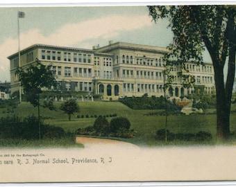 Rhode Island Normal School College Providence RI 1907c postcard