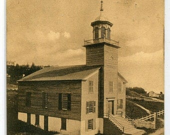 Old Mission Church Mackinac Island Michigan 1908 postcard