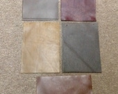 OK211E.  Package of 15 Brown Leather Cowhide Swatches