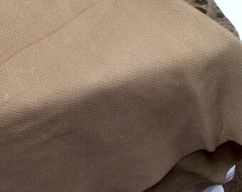 M347.  Dark Beige Embossed Herringbone Leather Cowhide Partial